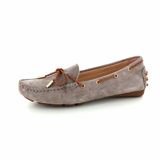 Si mocassins taupe