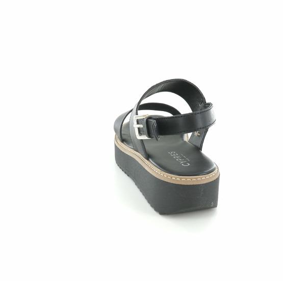 Cypres sandalen zwart