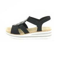 Rieker sandalen zwart