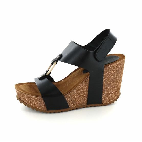 Hee sandalen zwart