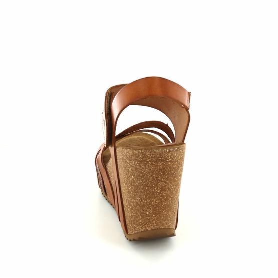 Hee sandalen cognac