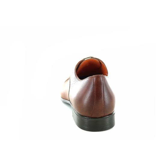 Santoni veterschoenen cognac