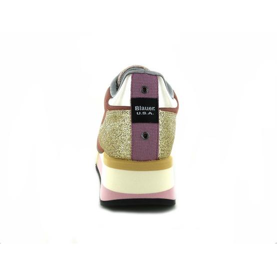 Blauer sneakers roze