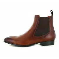 Santoni boots cognac