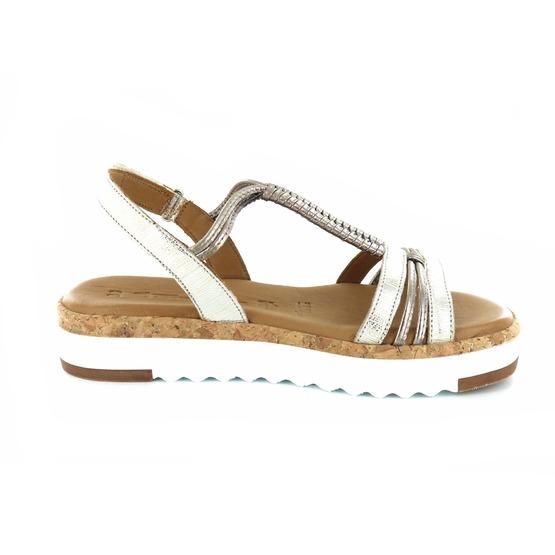 Tamaris sandalen goud