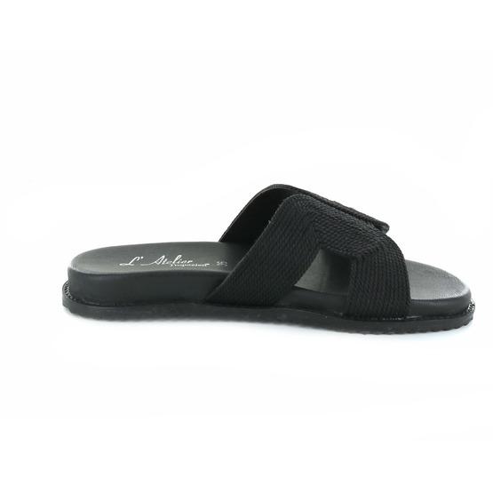 L'atelier Tropezien slippers zwart
