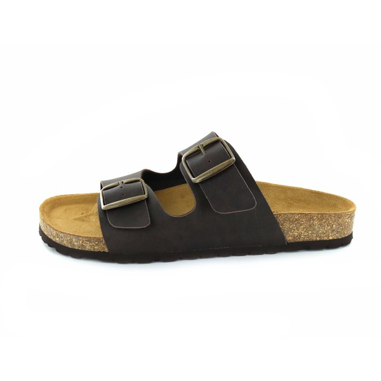 Cypres slippers donkerbruin