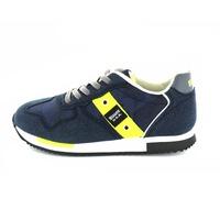 Blauer sneakers veter blauw