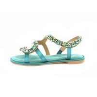Alma En Pena sandalen turquoise