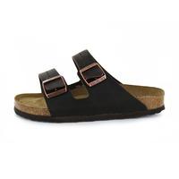 Birkenstock slippers donkerbruin