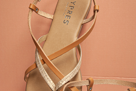 Cypres sandalen, dat is op en top vrouwelijkheid