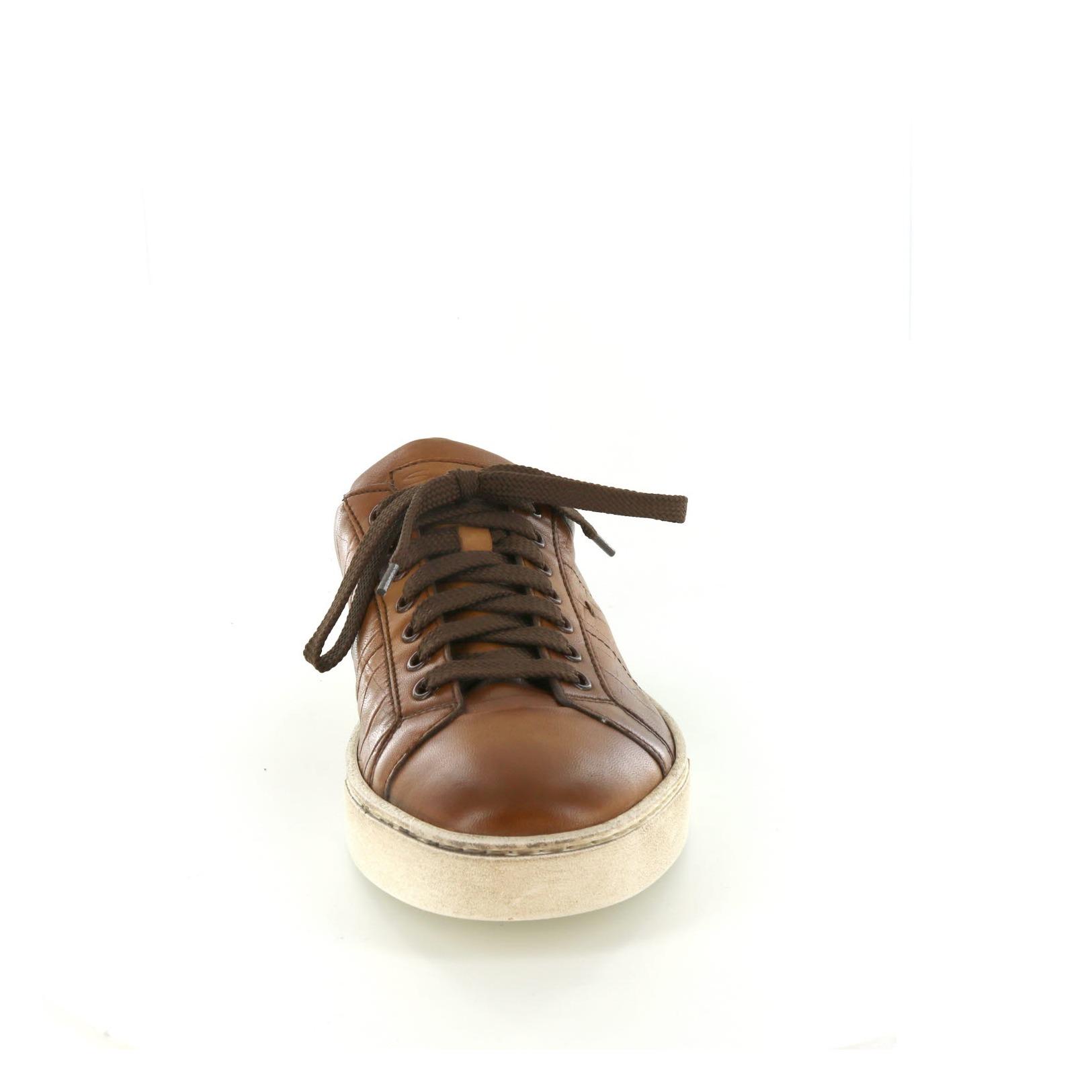 Santoni / Chaussures De Dentelle - Chaussures De Sport, Cognac