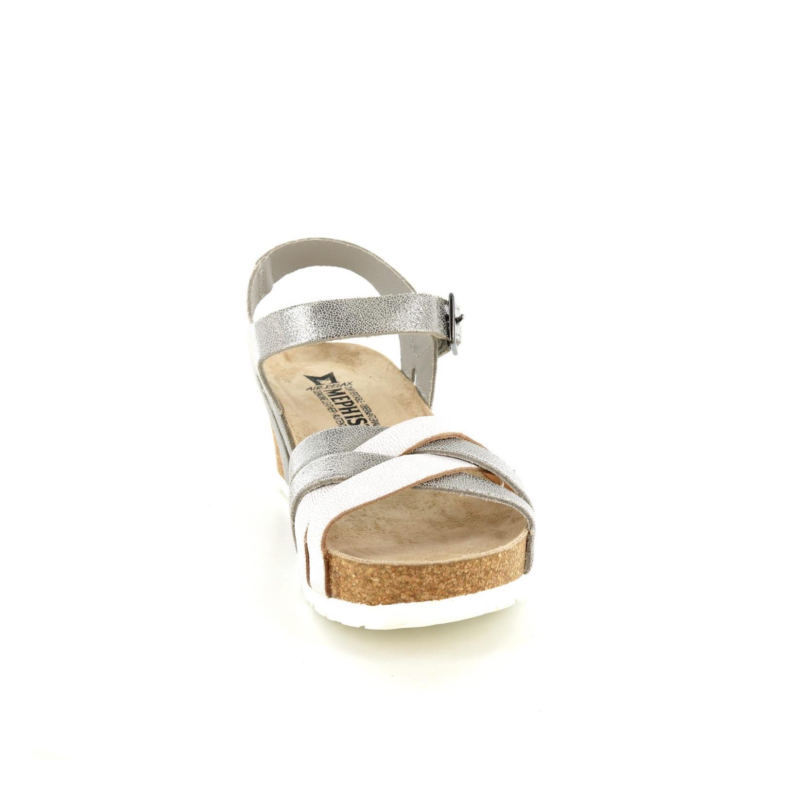 MEPHISTO / Sandalen, zilver