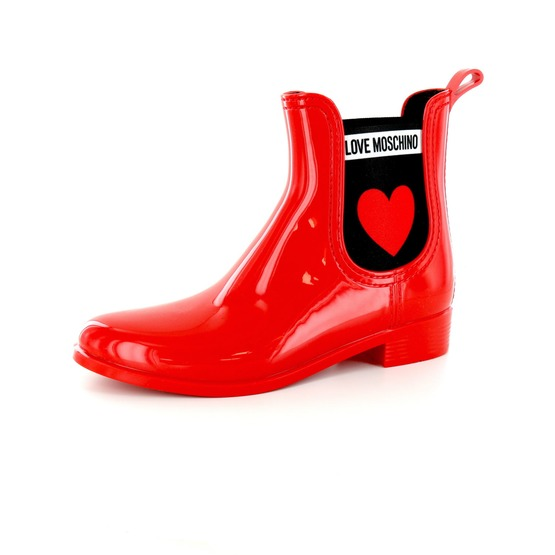 LOVE MOSCHINO   Bottes en caoutchouc   Chaussures dames   Chaussures ... 9161f6562987