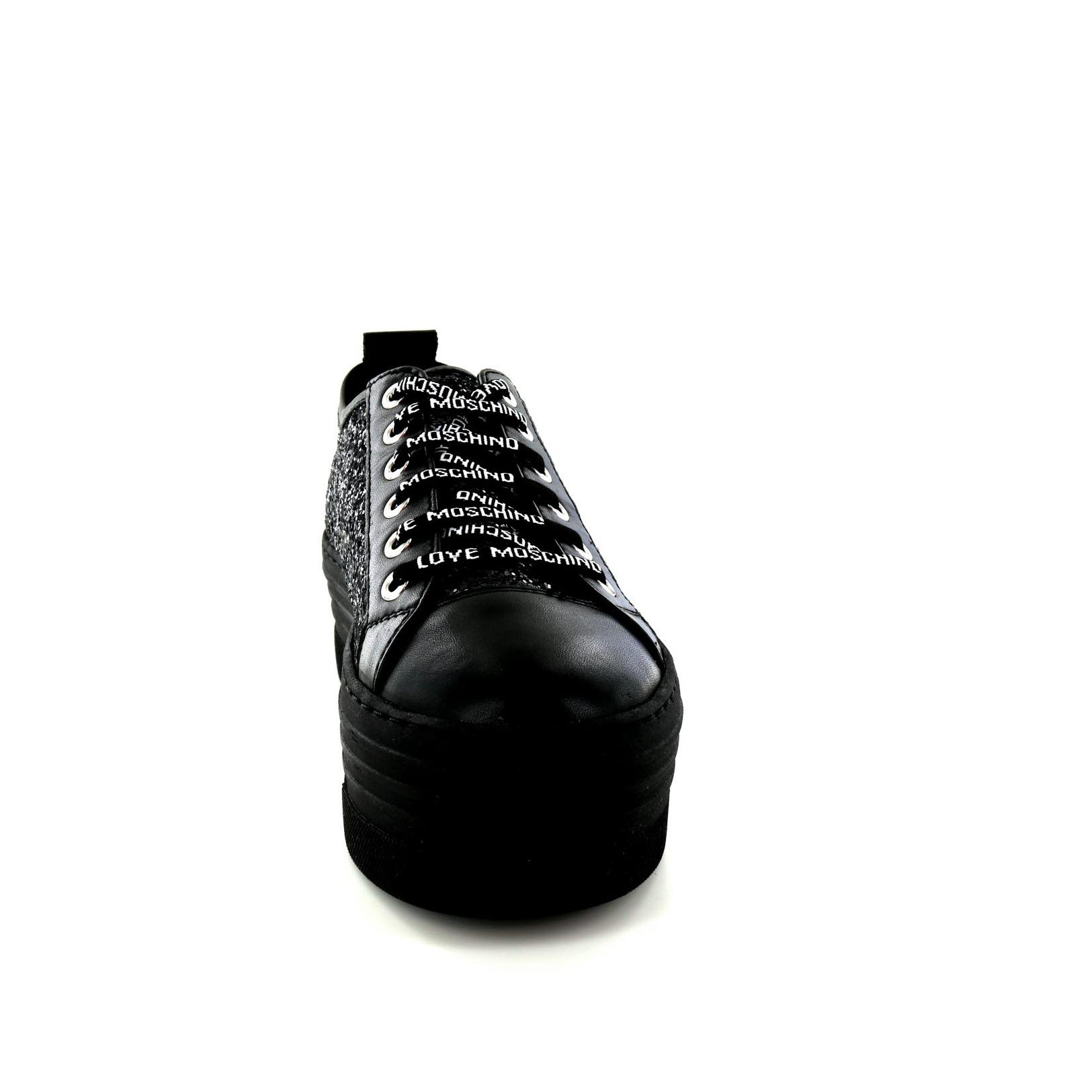 Moschino Amore / Pizzo Scarpe - Scarpe Da Ginnastica, Nero